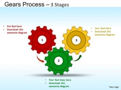 PowerPoint Layout Chart Gears Process Ppt Themes