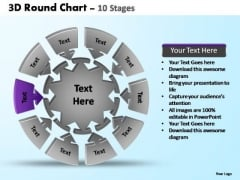 PowerPoint Layout Chart Pie Chart With Arrows Ppt Presentation Designs