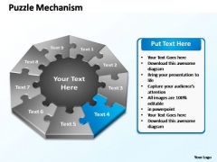 PowerPoint Layout Chart Puzzle Mechanism Ppt Slide