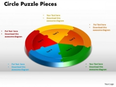 PowerPoint Layout Circle Puzzle Chart Ppt Backgrounds