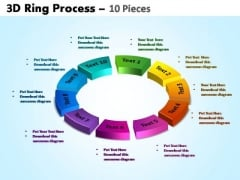 PowerPoint Layout Circular Chart Ring Process Ppt Slide