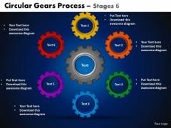 PowerPoint Layout Circular Process Circular Gears Ppt Presentation Designs