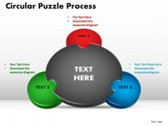 PowerPoint Layout Circular Puzzle Process Chart Ppt Design
