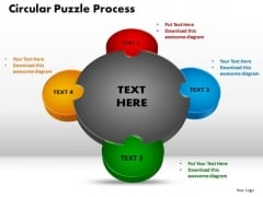 PowerPoint Layout Circular Puzzle Process Growth Ppt Backgrounds