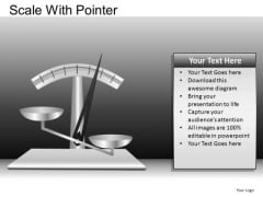 PowerPoint Layout Company Success Scale With Pointer Ppt Slides