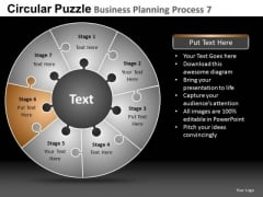 PowerPoint Layout Corporate Designs Circular Puzzle Ppt Process