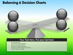 PowerPoint Layout Corporate Growth Balancing Decision Charts Ppt Process