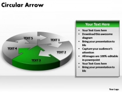PowerPoint Layout Diagram Circular Arrow Ppt Slide