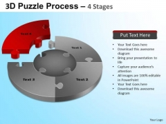PowerPoint Layout Diagram Jigsaw Pie Chart Ppt Presentation