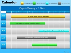 PowerPoint Layout Executive Education Blue Calendar 2012 Ppt Themes