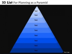 PowerPoint Layout Executive Success Mission 3d Pyramid List Ppt Presentation