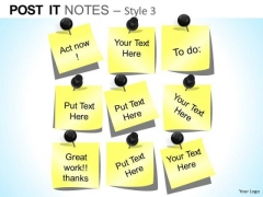 PowerPoint Layout Executive Success Post It Notes Ppt Theme