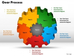 PowerPoint Layout Gear Process Company Ppt Backgrounds