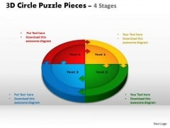 PowerPoint Layout Growth Circle Puzzle Ppt Template