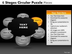 PowerPoint Layout Image Circular Puzzle Ppt Slide