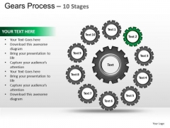 PowerPoint Layout Leadership Gears Process Ppt Presentation