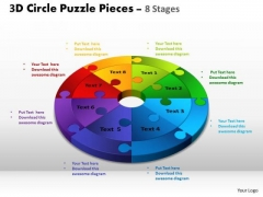 PowerPoint Layout Process Circle Puzzle Ppt Template