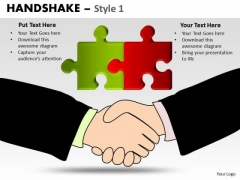 PowerPoint Layout Strategy Handshake Ppt Design Slides