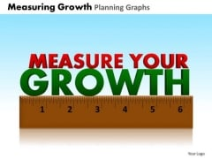 PowerPoint Layout Strategy Measuring Growth Ppt Templates