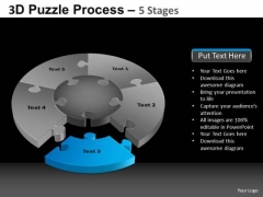 PowerPoint Layout Strategy Pie Chart Puzzle Process Ppt Slidelayout