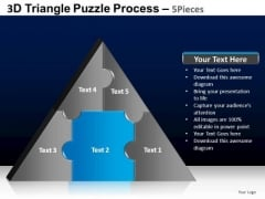 PowerPoint Layout Success Triangle Puzzle Ppt Presentation