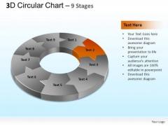PowerPoint Layout Teamwork Circular Chart Ppt Template