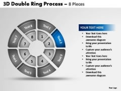 PowerPoint Layout Teamwork Double Ring Ppt Backgrounds
