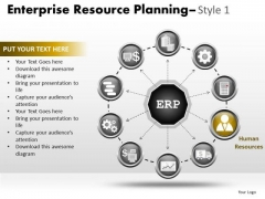 PowerPoint Layout Teamwork Enterprise Resource Ppt Designs