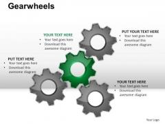 PowerPoint Layout Teamwork Gear Wheel Ppt Presentation