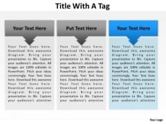 PowerPoint Layout Teamwork Title With A Tag Ppt Design