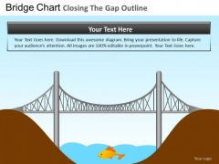 PowerPoint Layouts Business Leadership Bridge Closing Gap Ppt Themes