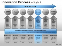 PowerPoint Layouts Business Leadership Innovation Process Ppt Layouts