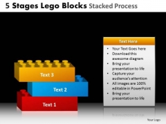 PowerPoint Layouts Business Lego Blocks Ppt Layouts