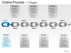 PowerPoint Layouts Chart Chains Process Ppt Layout