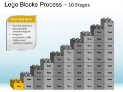 PowerPoint Layouts Chart Lego Blocks Ppt Template
