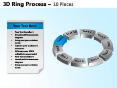 PowerPoint Layouts Circle Chart Ring Process Ppt Presentation