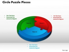 PowerPoint Layouts Circle Puzzle Pieces Business Ppt Slide Designs