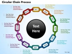 PowerPoint Layouts Circular Chain Process Image Ppt Slide Designs