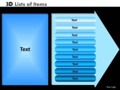 PowerPoint Layouts Circular Process Lists Of Items Ppt Process
