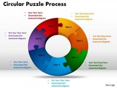 PowerPoint Layouts Circular Puzzle Process Chart Ppt Template