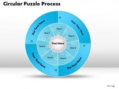 PowerPoint Layouts Circular Puzzle Process Diagram Ppt Theme