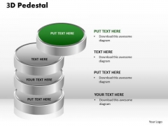 PowerPoint Layouts Company 3d Pedestal Ppt Slides