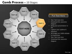 PowerPoint Layouts Company Hub And Spokes Process Ppt Template