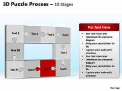 PowerPoint Layouts Company Puzzle Process Ppt Slides