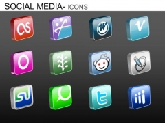 PowerPoint Layouts Company Strategy Social Media Icons Ppt Slide Designs