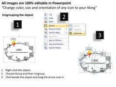 PowerPoint Layouts Customer Relationship Management Process Ppt Slides