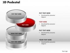PowerPoint Layouts Diagram 3d Pedestal Ppt Backgrounds