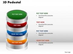 PowerPoint Layouts Diagram 3d Pedestal Ppt Presentation