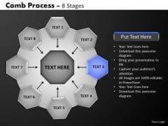 PowerPoint Layouts Diagram Hub And Spokes Process Ppt Templates