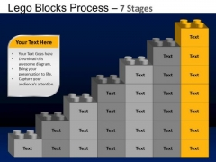 PowerPoint Layouts Diagram Lego Blocks Ppt Template